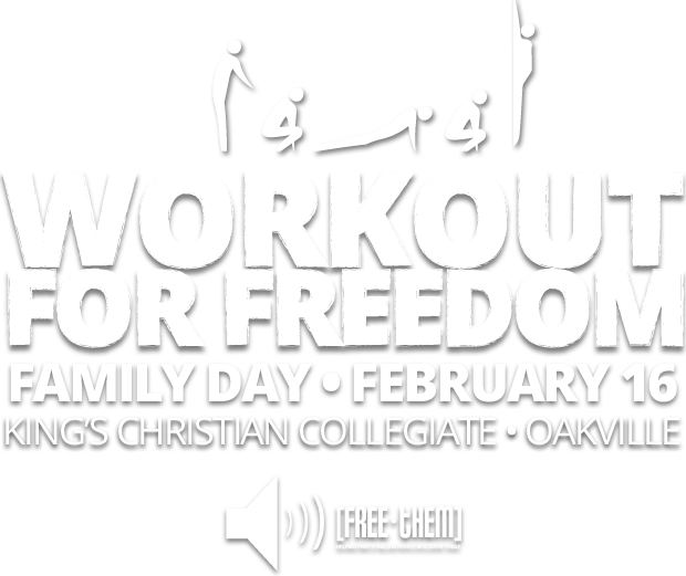 Workout for Freedom to Fight Human Trafficking on Family Day, February 16, 2015 - Oakville, ON
